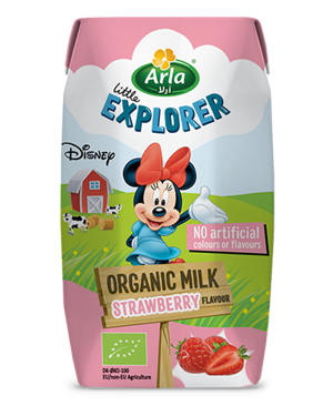 Little Explorer Strawberry flavoured organic milk 200 ml